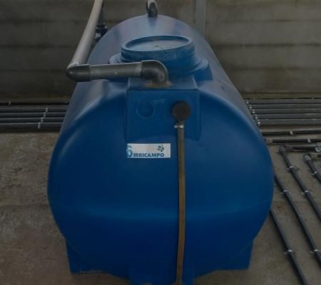 Depósito com sistema de mistura a ar